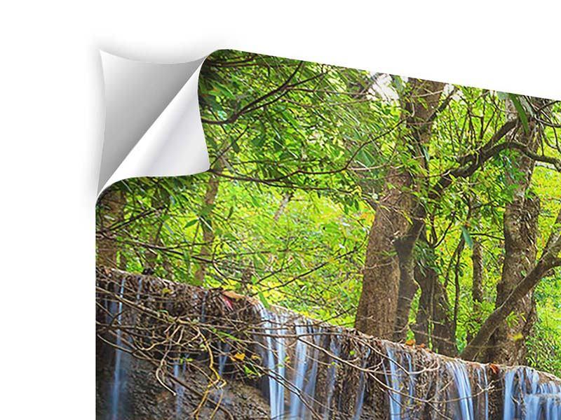Klebeposter 3-teilig modern Wasserfall Si Nakharin