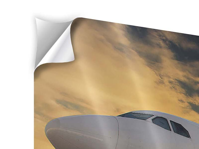 Klebeposter 3-teilig modern Jet