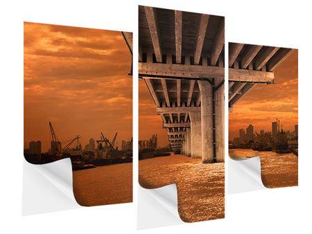 Klebeposter 3-teilig modern Die Brücke
