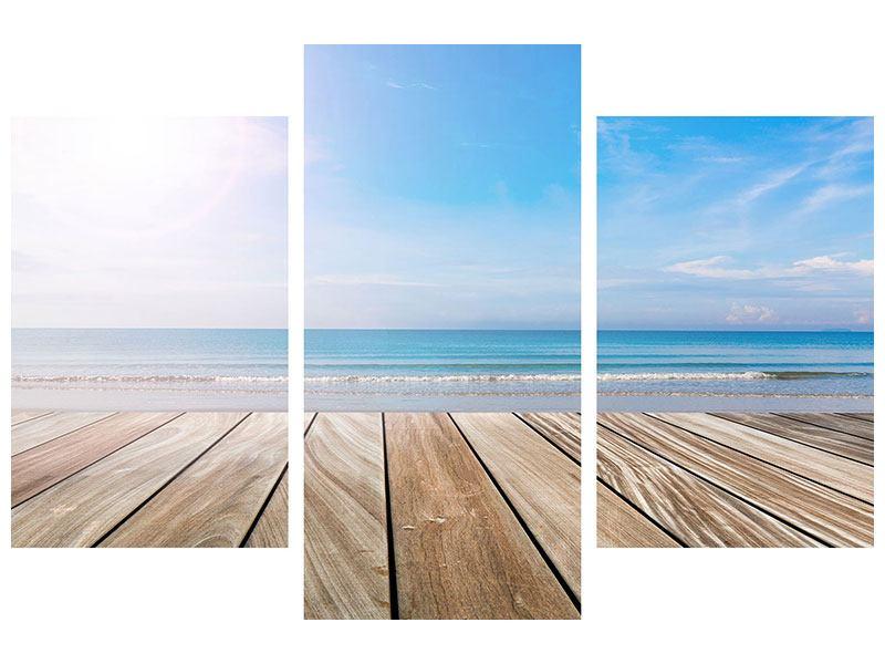 Klebeposter 3-teilig modern Das schöne Strandhaus