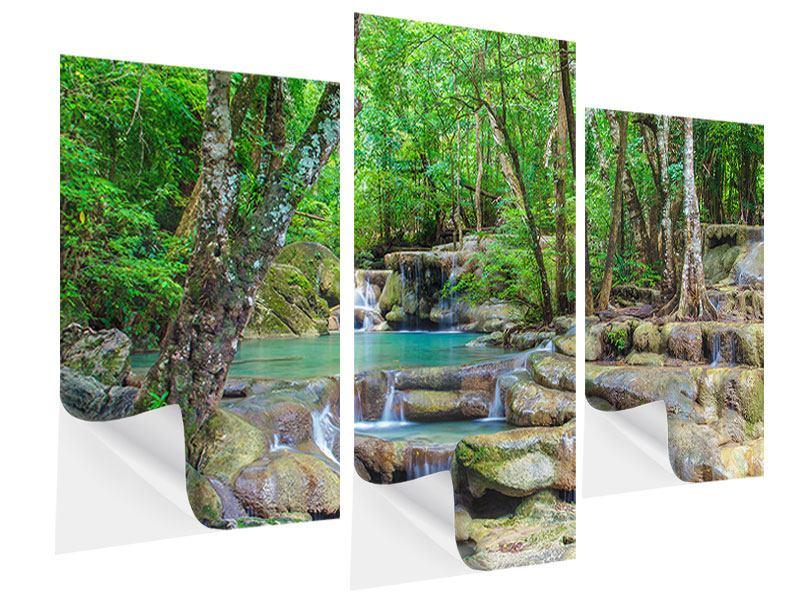 Klebeposter 3-teilig modern Wasserspektakel