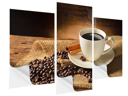 Klebeposter 3-teilig modern Kaffeepause