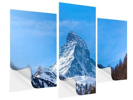 Klebeposter 3-teilig modern Das majestätische Matterhorn