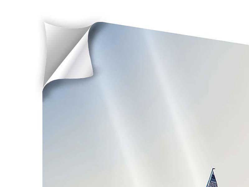 Klebeposter 3-teilig modern Segelyacht