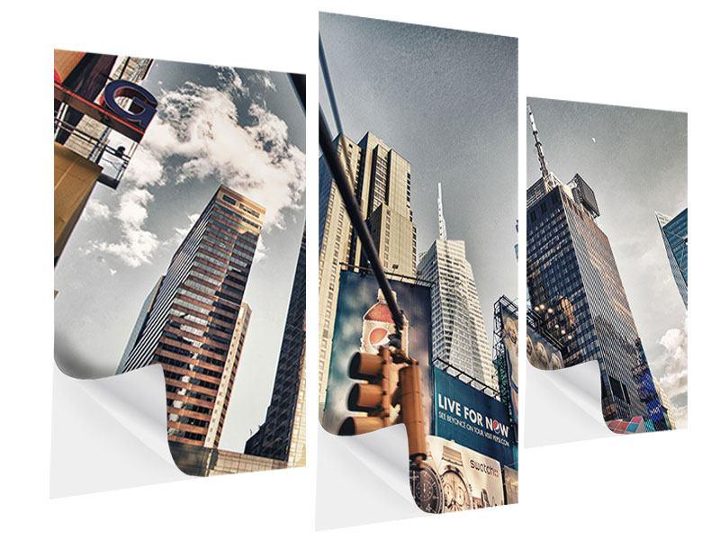 Klebeposter 3-teilig modern Times Square
