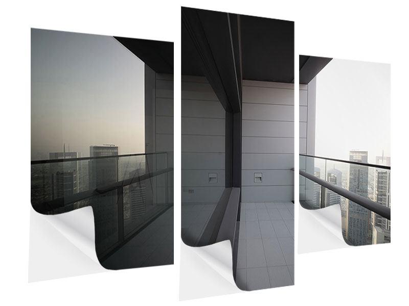 Klebeposter 3-teilig modern Balkon in Dubai