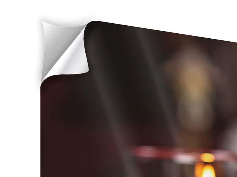 Klebeposter 3-teilig modern Köstliches Geflügel