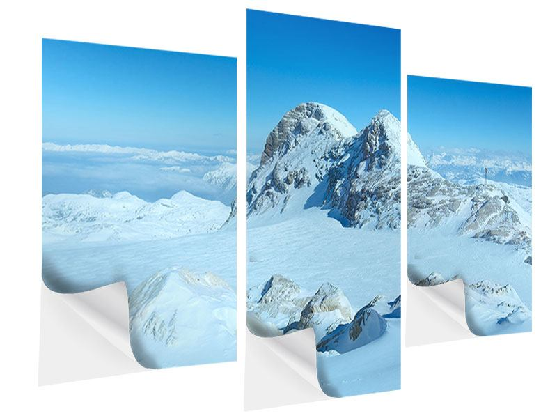Klebeposter 3-teilig modern Über den Wolken