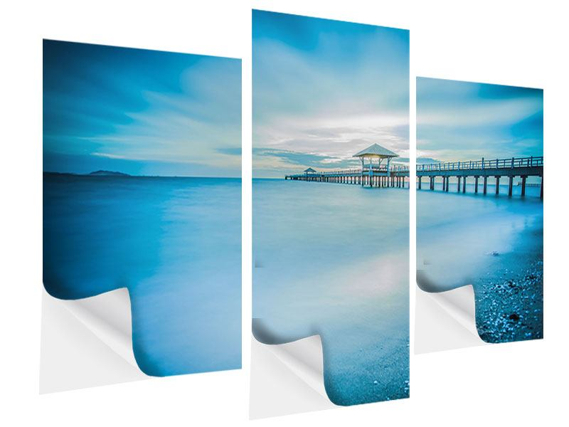 Klebeposter 3-teilig modern Brückenimpression