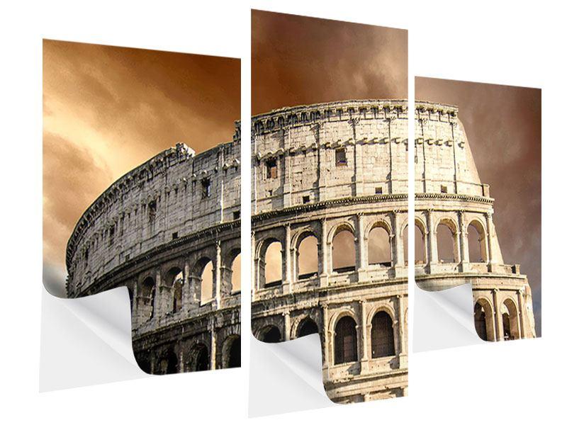Klebeposter 3-teilig modern Kolosseum Rom