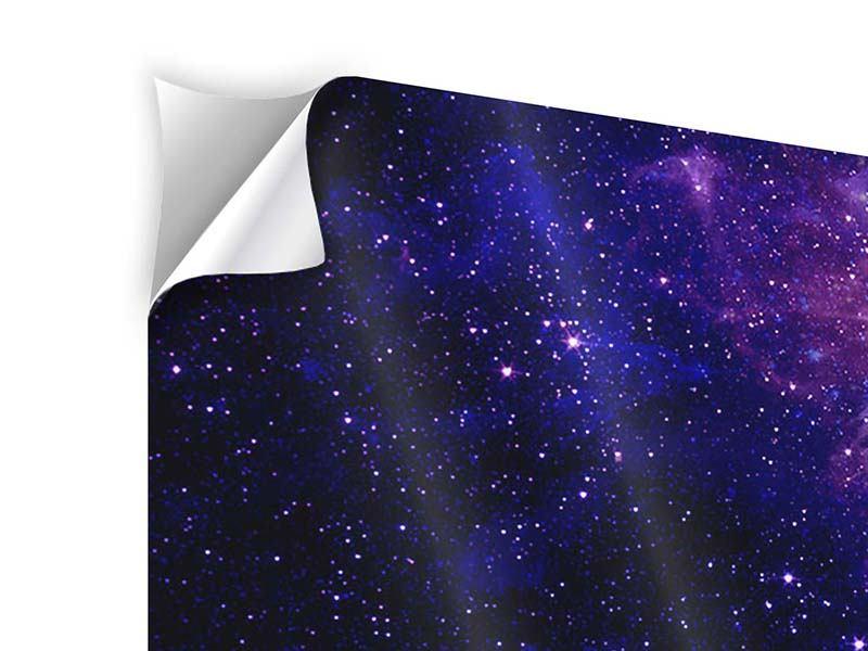 Klebeposter 3-teilig modern Ein Himmel voll Sterne