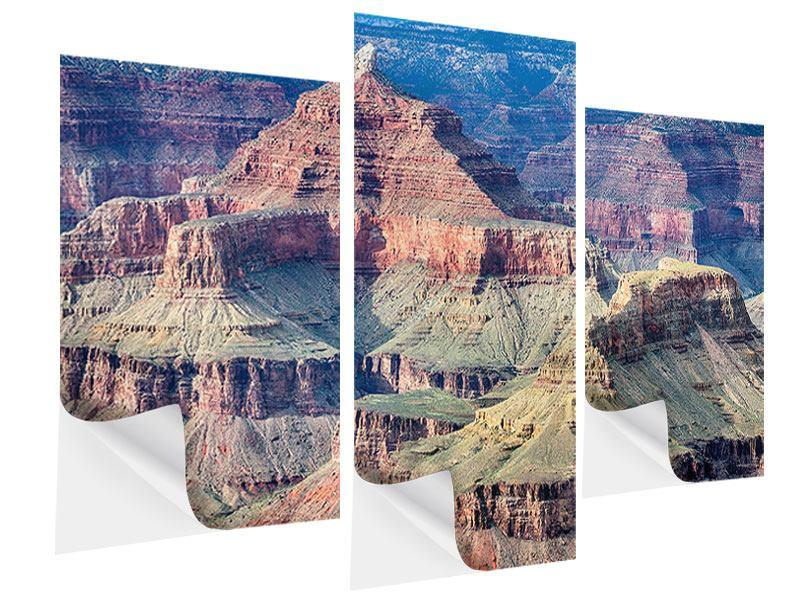 Klebeposter 3-teilig modern Gran Canyon