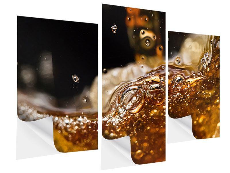 Klebeposter 3-teilig modern Cognac