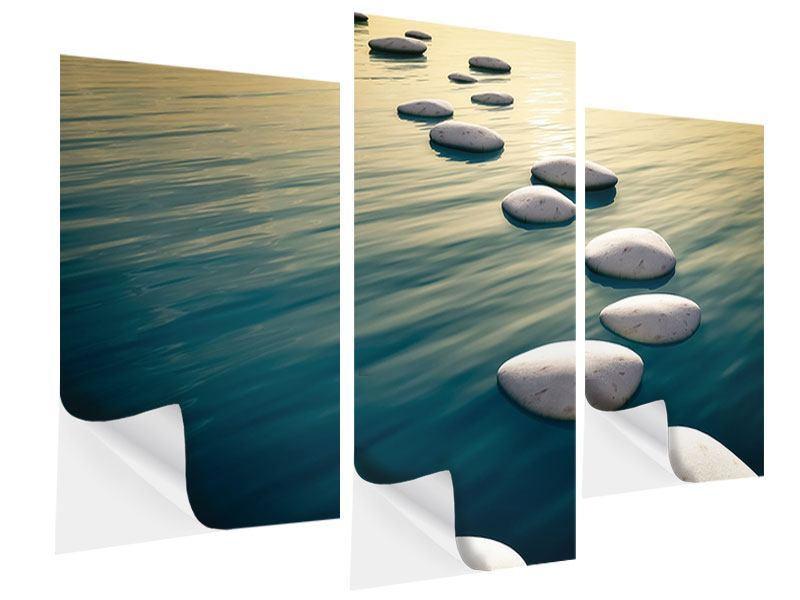 Klebeposter 3-teilig modern Der Weg ist das Ziel