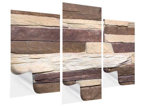 Klebeposter 3-teilig modern Designer-Mauer