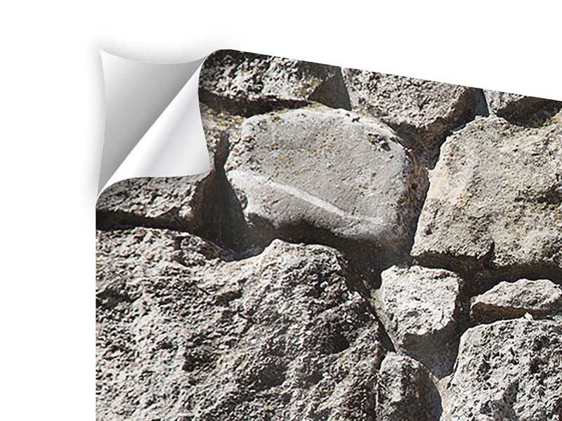 Klebeposter 3-teilig modern Grosses Mauerwerk
