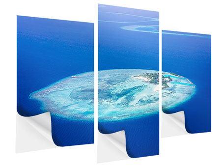 Klebeposter 3-teilig modern Reif für die Trauminsel