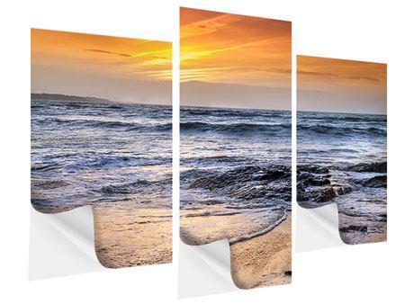 Klebeposter 3-teilig modern Das Meer
