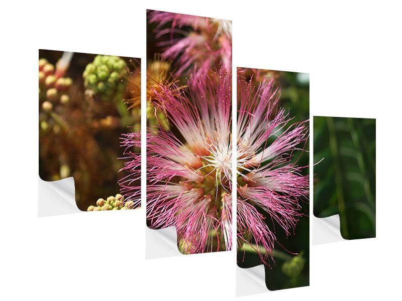 Klebeposter 4-teilig modern Die Regenbaumblüte
