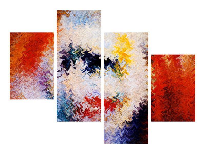 Klebeposter 4-teilig modern Wandmalerei