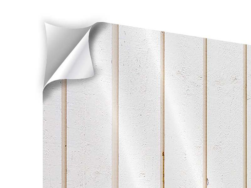 Klebeposter 4-teilig modern Mediterranes Holz