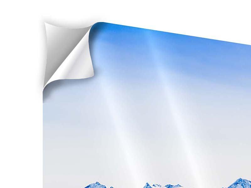 Klebeposter 4-teilig modern Die Schweizer Alpen