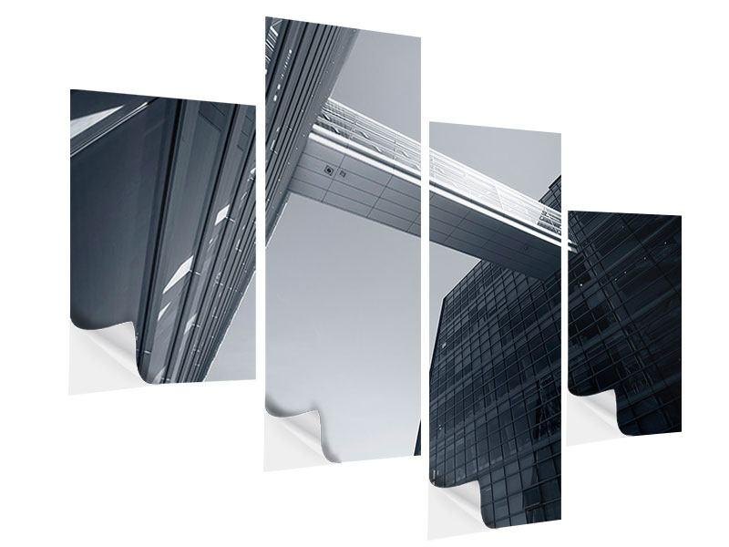 Klebeposter 4-teilig modern Der schwarze Diamant Kopenhagens