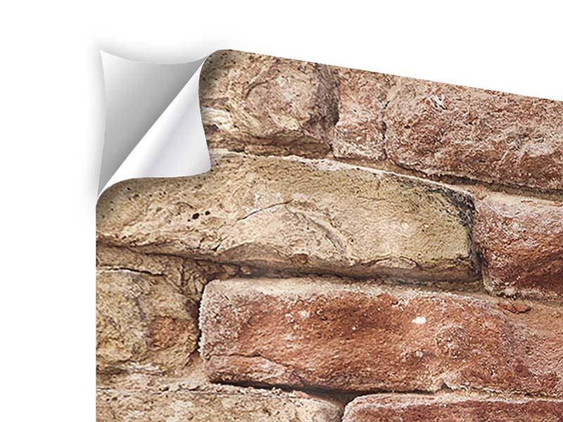 Klebeposter 4-teilig modern Loft-Mauer