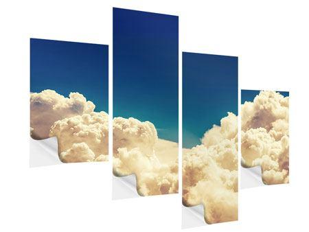 Klebeposter 4-teilig modern Himmelswolken