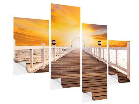 Klebeposter 4-teilig modern Die Brücke Ins Glück