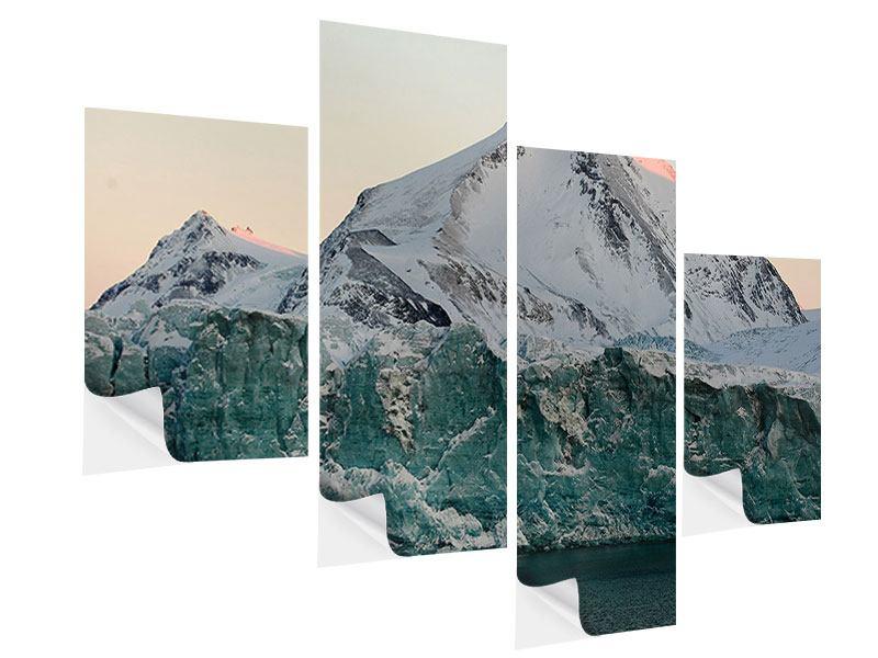 Klebeposter 4-teilig modern Die Antarktis