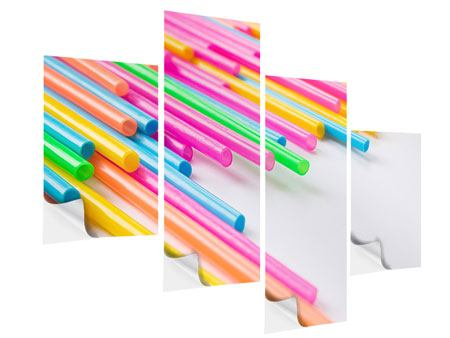 Klebeposter 4-teilig modern Pop Art