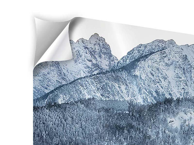 Klebeposter 4-teilig modern Schwarzweissfotografie Berge