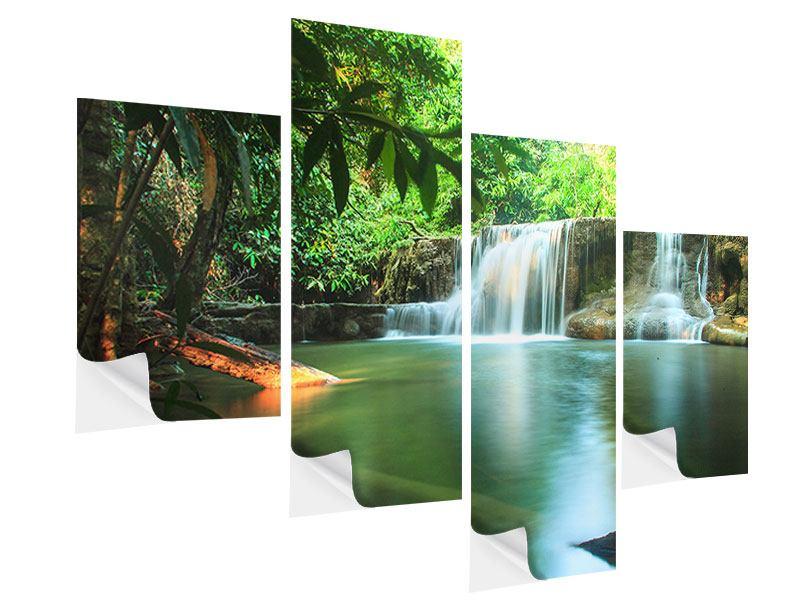 Klebeposter 4-teilig modern Element Wasser
