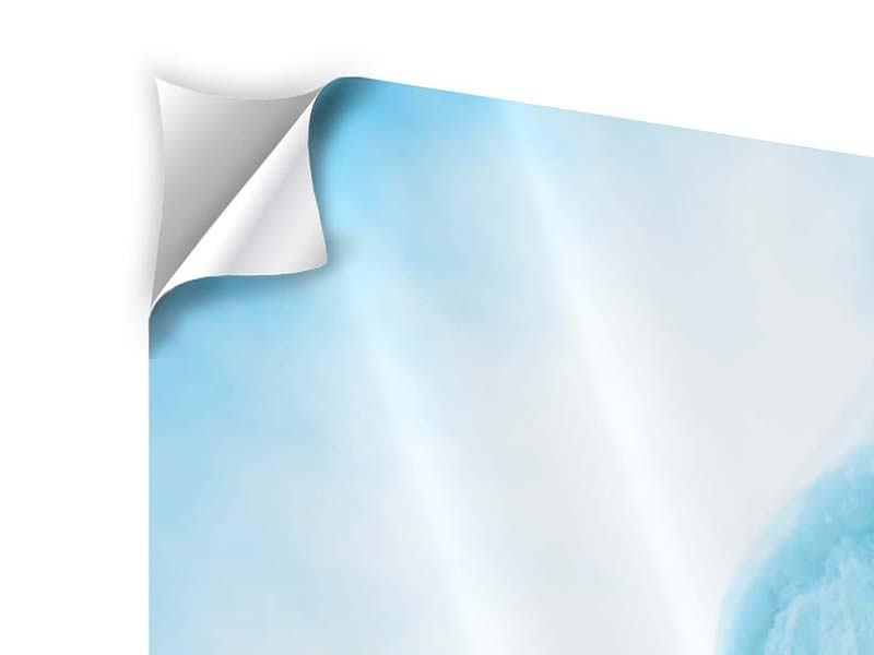 Klebeposter 4-teilig modern Die Eiswand