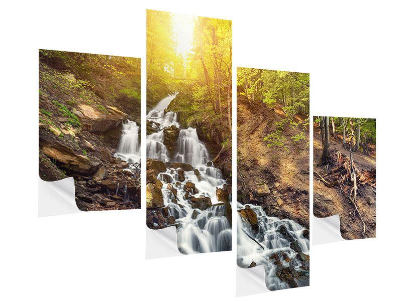 Klebeposter 4-teilig modern Naturschönheit