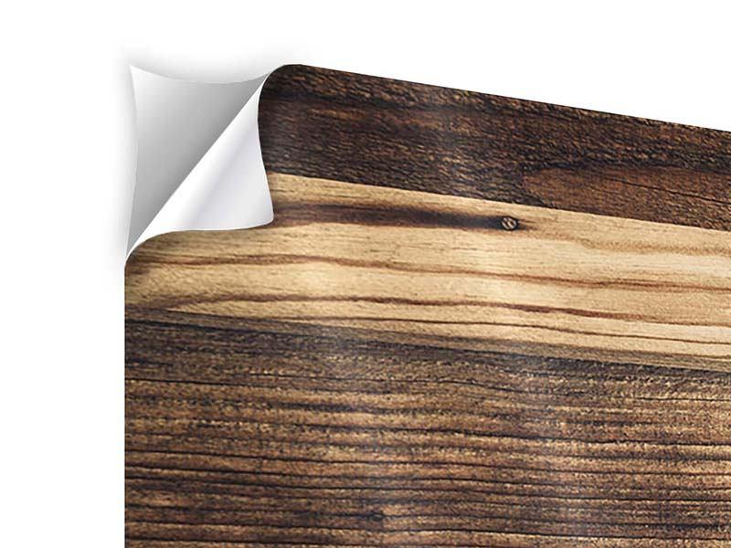 Klebeposter 4-teilig modern Holztrend