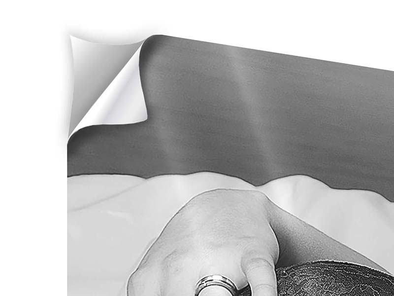 Klebeposter 4-teilig modern Dessous-Schönheit