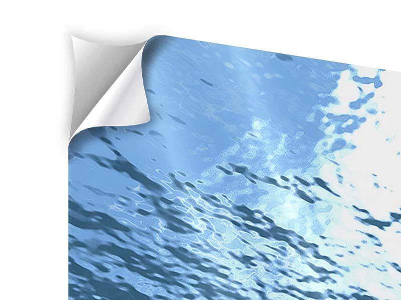 Klebeposter 4-teilig modern Sonnenstrahlen unter Wasser