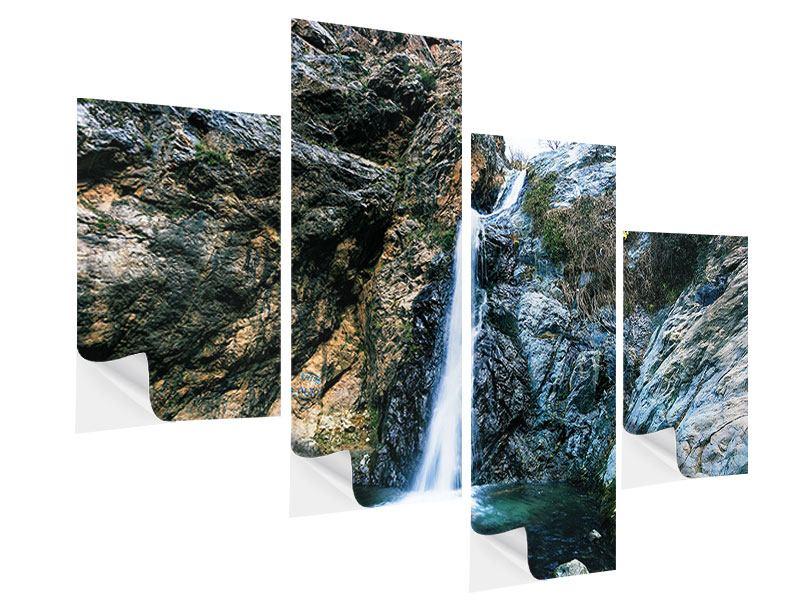 Klebeposter 4-teilig modern Bewegtes Wasser