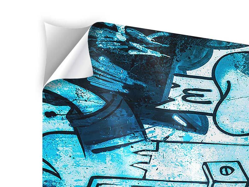 Klebeposter 4-teilig modern Graffiti