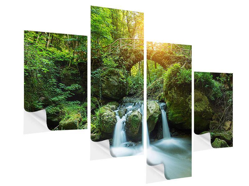 Klebeposter 4-teilig modern Wasserspiegelungen