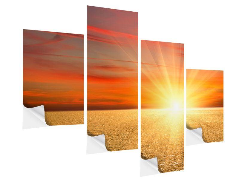 Klebeposter 4-teilig modern Der Sonnenuntergang