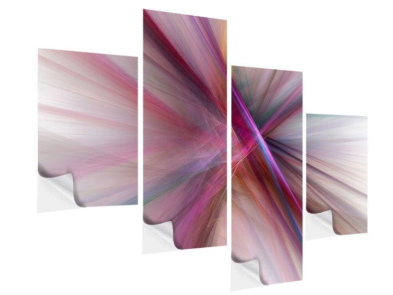 Klebeposter 4-teilig modern Abstraktes Lichterleuchten