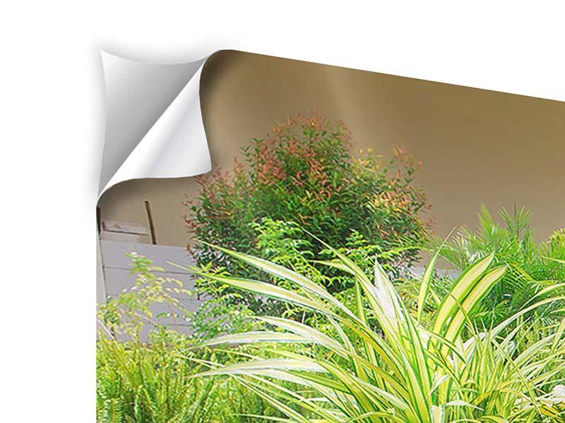 Klebeposter 4-teilig modern Paradiesgarten