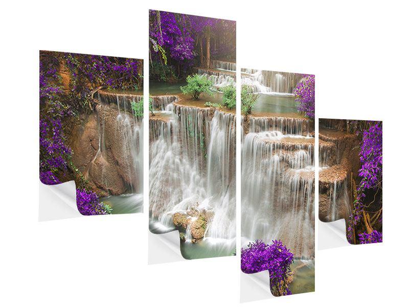 Klebeposter 4-teilig modern Garten Eden