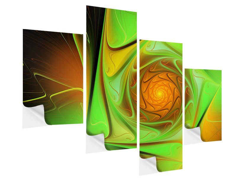 Klebeposter 4-teilig modern Abstraktionen