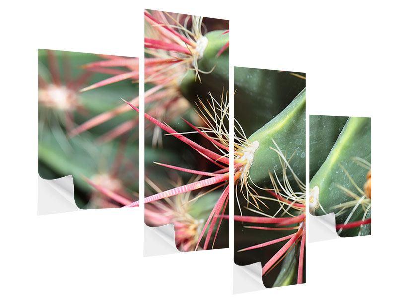 Klebeposter 4-teilig modern Die Kaktusblüte