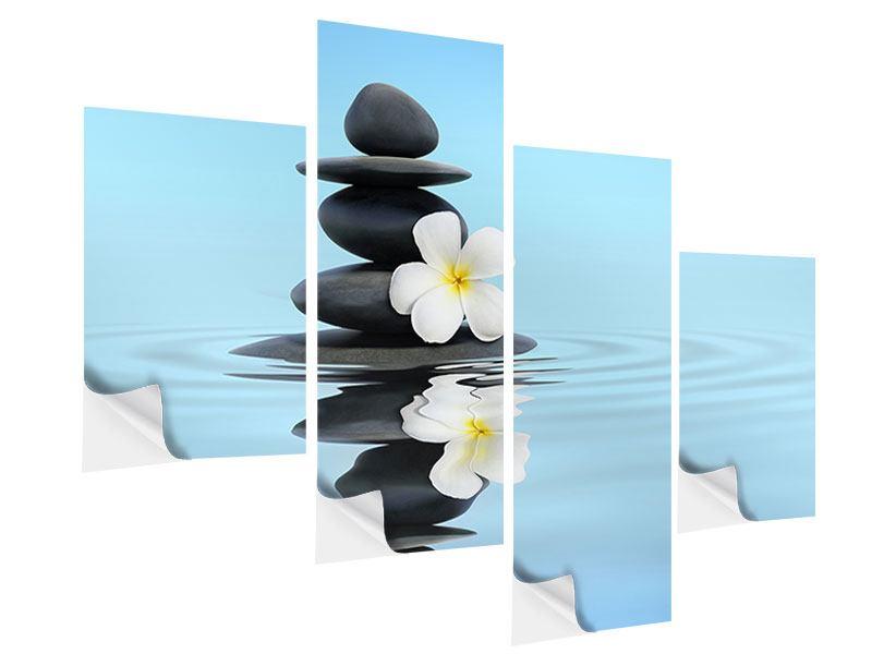 Klebeposter 4-teilig modern Zen Steine