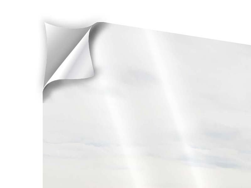 Klebeposter 4-teilig modern Leise Wellen